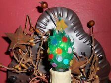 Primitive Christmas Tree Silicone Handcrafted 7 Watt Light Bulb