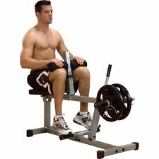 Body Solid PowerLine Seated Calf Raise Gym Strength Machine PSC43X