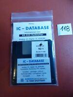 IC Database Floppy Analog IC digital IC Eprom Transistors FET Semiconductors