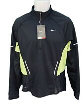 NIKE RUNNING Mens Long Sleeved Reflective Zoned Cooling Dri Fit Warm Top Black M