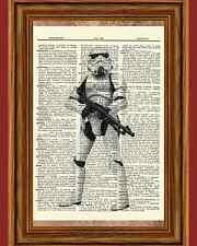 Storm Trooper Star Wars Dictionary Art Print Book Picture Poster Stormtrooper