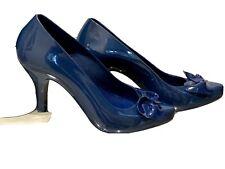 Zapatos De Tacón Melissa 39 40 Azul Marino
