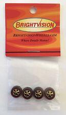 4 Brightvision Redline Wheels – 4 Medium Gold Chrome Bearing Style Wheels