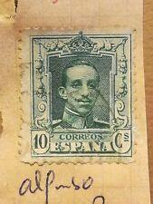 N°329 Timbre oblitéré à décoller BE Espagne - 1922 - Alfonso - 10c vert
