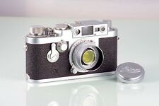 LEITZ RANGEFINDER LEICA IIIG 3G + ELMAR 50mm f3.5 NEAR MINT DREAM CONDITION