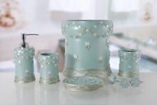 6 Piece Decorative Bathroom Accessory set Made of Ceramic (Maya Aqua)