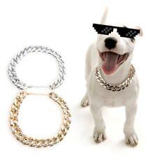 Dog Chain Collar Fashion Cool Necklace for Small Medium Large Dog Boy