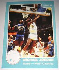 Michael Jordan 1985 Star North Carolina Rookie Error Logo Basketball Card No 9