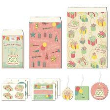 Cavallini & Co. Happy Birthday Petite Parcel Set, Birthday Gift Wrap Bags
