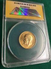 More details for full gold sovereign  1925 ms65 slabbed excellent coin