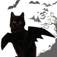 Fj- Qu _ Halloween Animali Cane Gatto Nero Pipistrello Ali Vampiro Vestito fino