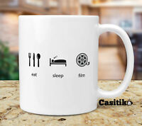 Movie Director Coffee Mug, Eat Sleep Film Funny Movie Making