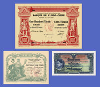 "100 PIASTRES /""3 MADAMS/"" 1954 VIETNAM INDOCHINE Reproductions"