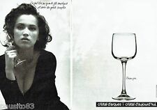 PUBLICITE ADVERTISING 116  1988  Cristal d'Arques verres  Briançon (2p)