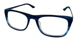 Tumi Mens Eyeglass Rectangle Navy Blue Plastic  T315 53mm