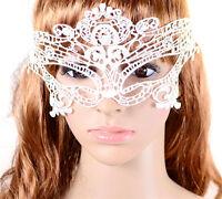 White Venetian Fancy Dress Lace Mask Masquerade Ball Party Eye Costume Halloween