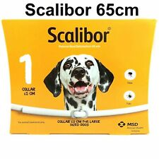 1x SCALIBOR large DOG TICKS COLLAR 65cm Band 6month prevent fleas exp 2023