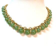 Beautiful LC Lauren Conrad Emerald Green Gold Choker Necklace