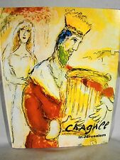 Chagall In Jerusalem. 1st Ed 1983 DJ Original Color Lithograph
