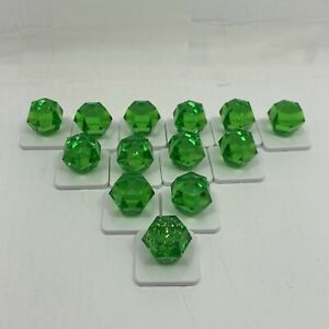BEJEWELED Board Game Hasbro Replacement Parts Pieces lot of 13 GEMS green