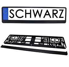 2x Kennzeichenhalter in Schwarz Kennzeichen Nummernschild Halter VORNE + HINTEN