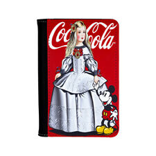 Mickey Mouse Disney Coca Cola Menina Parody Princess Dress Passport Holder Case