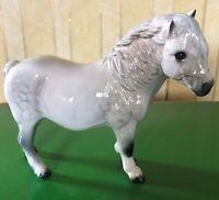 ROYAL DOULTON HORSE SHETLAND PONY DAPPLE GREY GLOSS MODEL No.DA 185 PERFECT