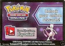 LOT OF 2 X POKEMON ONLINE CODE CARD FROM THE 2012 MEWTWO COLLECTOR'S BOX