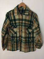 Vintage 60's 70's L.L. BEAN Flannel Shirt Wool Blend Size Large Made In USA