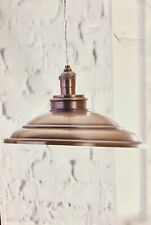allen + roth Hainsbrook Antique Pewter Industrial Dome Pendant Light