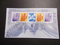 GB 2004~Scottish Parliament M/S~Very Fine Used Set, on piece~ex fdc~UK Seller