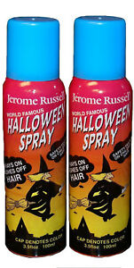 Jerome Russell Halloween Spray BLUE Temporary Hair Color TWO PACK  *Fast Ship*