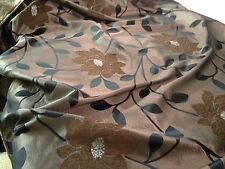 Brown and black curtain fabric, material for curtains and cushions..