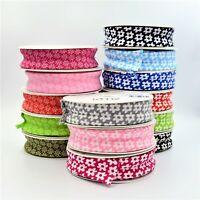 Bias Binding Patterned 100 % Cotton 25mm Variety of Designs Single Fold