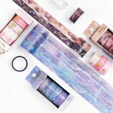 4pcs Starry Sky Cherry Blossoms Bullet Journal Washi Tape Set Adhesive Stickers