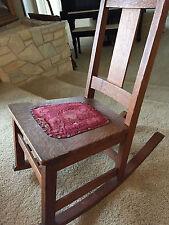 Limbert Arts & Crafts Oak Child's Rocking Chair c. 1905