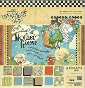 Graphic 45 Mother Goose 12 x 12 Cardstock Pad 24 sheets Nursery Rhymes Twinkle