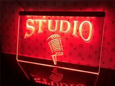 1 Pcs Studio On The Air Microphone Bar LED Neon Light Sign