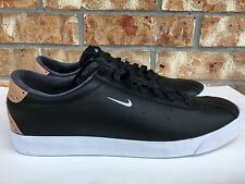 Men's Nike Match Classic Suede Leather Shoes Black White Tan Size 13 844611-001