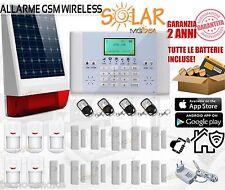 ALLARME WIRELESS GSM SOLAR ANTIFURTO SIRENA ESTERNA SOLARE CASA UFFICIO NEGOZIO