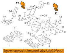 AUDI OEM Q7 Second Row Back Rear Seat-Headrest Head Rest, Outer 4L0883901ACN18
