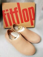 Fitflop Superloafer Leather Beechwood Nude Loafer Ladies Flat Shoes Box Size 7