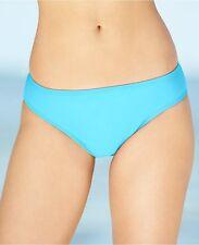 Island Escape Bikini Bottom Sz 12 Aqua Solid Full Cover Shaper Swim Pant R760040