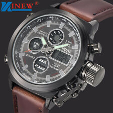 Sport Military Army LED Men's Watches Analog Quartz Stainless Steel Wristwatches