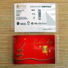 """0,10 Gramm Goldbarren """"Frohes Fest"""" 0,1g Gold Barren Weihnachtsgeschenk Geschenk"""