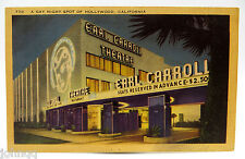 Vintage Postcard - Gay Night Spot in Hollywood California - Earl Carroll Theatre