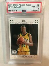KEVIN DURANT 2007-08 TOPPS #2 PSA 8 NM-MT WHITE BORDER ROOKIE RC