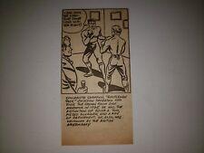 Jack Jackson Dan Mendoza England Boxing 1948 Cartoon Sketch