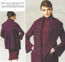 Vogue Designer Donna Karan Loose-Fit Shawl Collar Jacket Pattern V1263 Sz L-Xxl