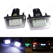 2x LED License Number Plate Lights Bulbs For Peugeot 206 207 307 308 406 407